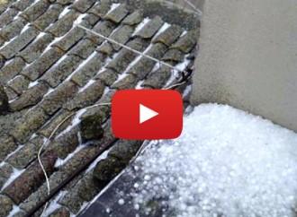 Pachino, meteo e temperature basse: grandinata con qualche fiocco di nevischio