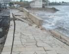 Marzamemi. Viene giù il lungomare e la diga, in piazza V. Emanuele alberi devastati