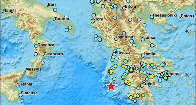 Scossa di terremoto vicino le coste Greche avvertito pure in Sicilia