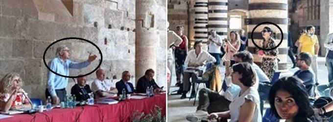 Vittorio Sgarbi attacca Laura Valvo che voleva porre domande ad una conferenza stampa
